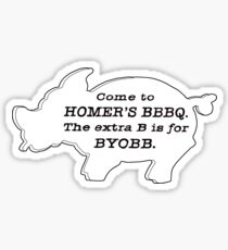 The Simpsons - Homer's BBBQ Sticker