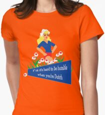 Blunt Blonde Dutch Tee Womens Fitted T-Shirt