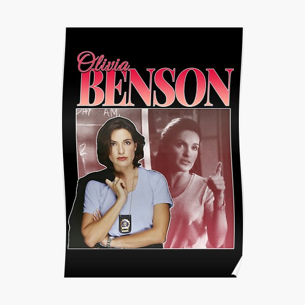 Olivia Benson 90s Inspired Vintage Homage Poster