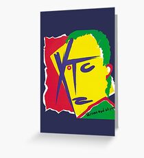 XTC - Drums and Wires Greeting Card