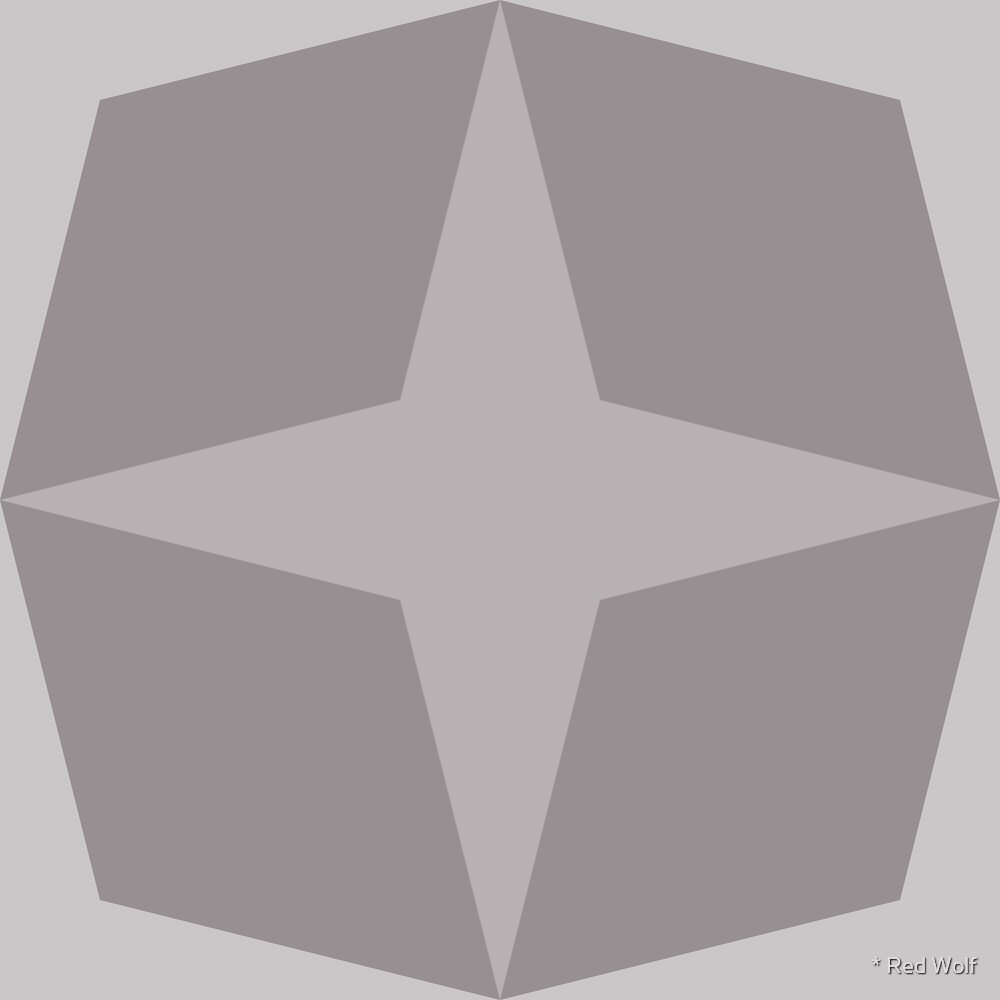 Geometric Pattern: Diamond Star: Platinum by * Red Wolf