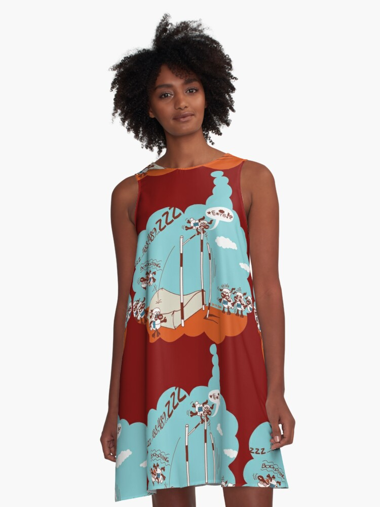 Chronic Insomnia A-Line Dress Front