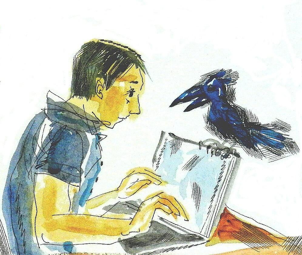 Nevermore, E.A.Poe: Sergei Lefert's drawing by SergeiLefert