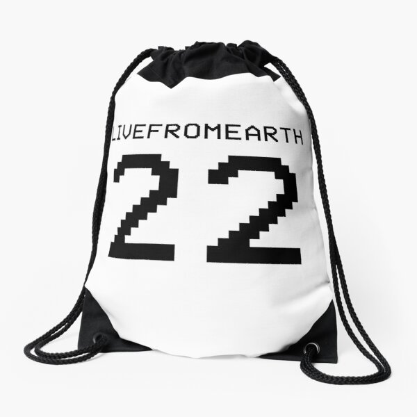 live from earth Drawstring Bag