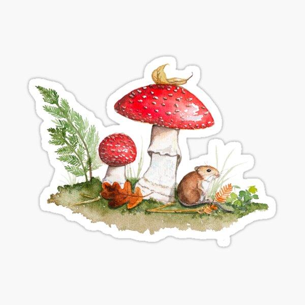 Amanites et souris Sticker