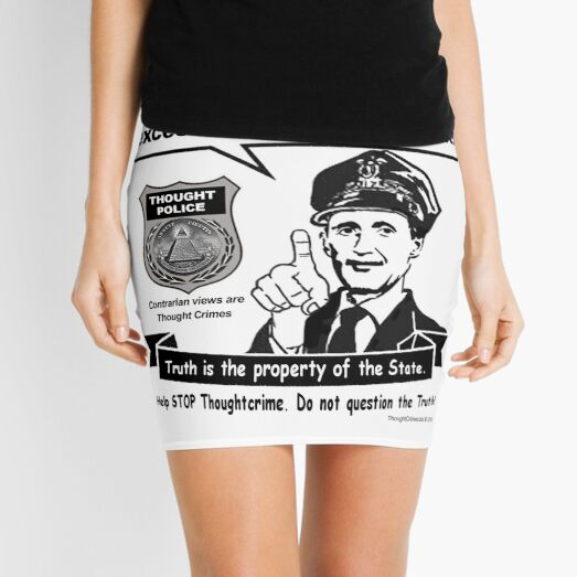Thought Police Mini Skirt