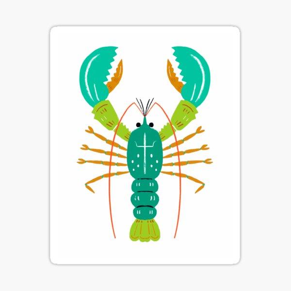 Lobster modern art Sticker