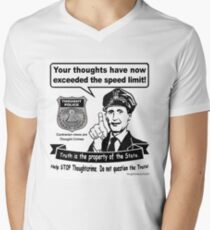 Thought Police Men's V-Neck T-Shirt