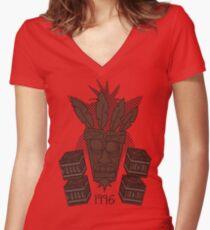Crash Bandicoot Women's Fitted V-Neck T-Shirt