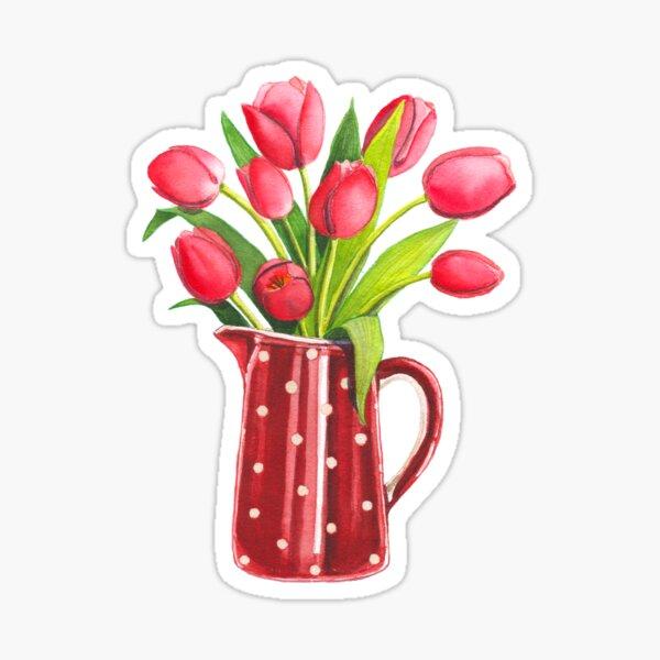 Bouquet de tulipes Sticker