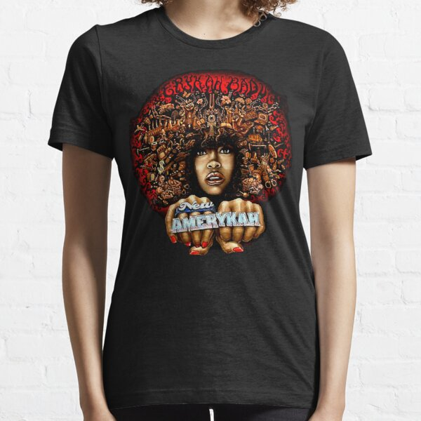 YaoJun-Tshirt Womens R/&b Soul Singer Erykah Badu Logo Short Sleeve T-Shirt Black