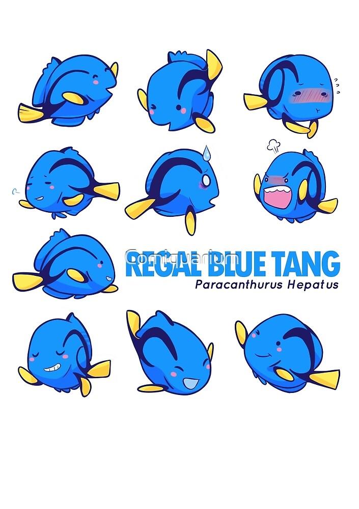 Regal Blue Tangs by Comiquarium