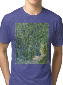 Vincent Van Gogh - Path In The Woods. Forest view: forest , trees,  fauna, nature, birds, animals, flora, flowers, plants, field, weekend Tri-blend T-Shirt