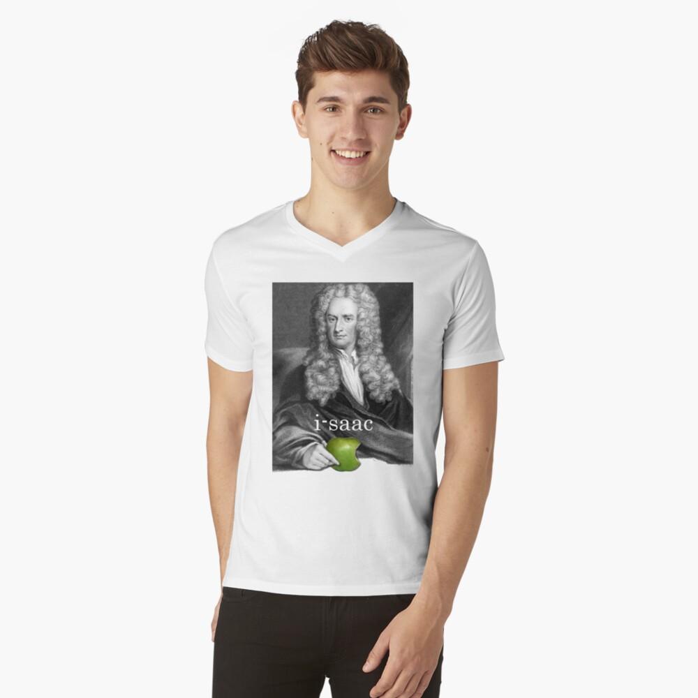 i-saac Newton Camiseta de cuello en V