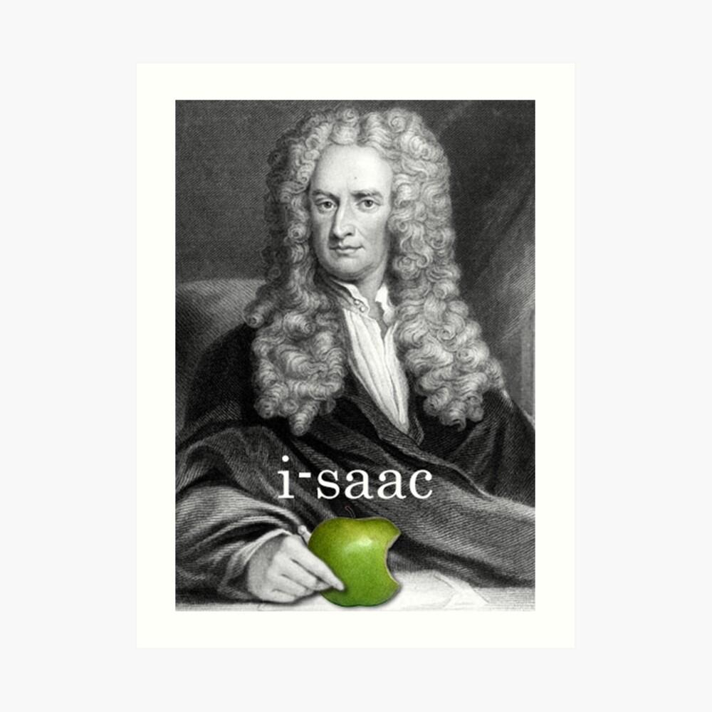 i-saac Newton Lámina artística