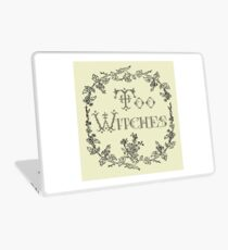 Too Witches (off-white and black) Laptop Skin