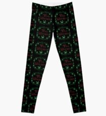 Too Witches (black and red) Leggings