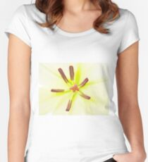 Lily flower close up Women's Fitted Scoop T-Shirt