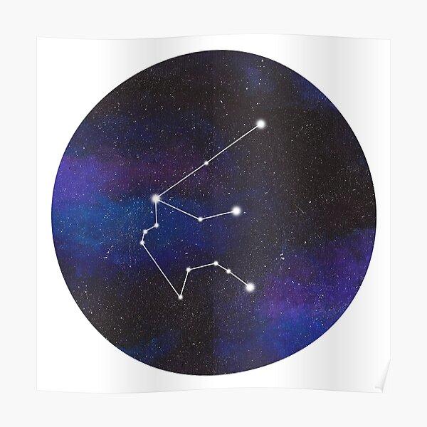 Aquarius - galaxy star constellation Poster