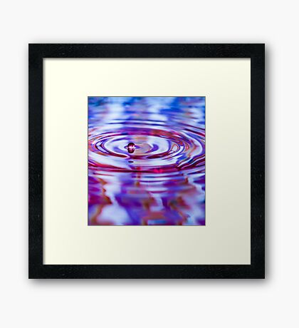 ~ one drop ~ Framed Print