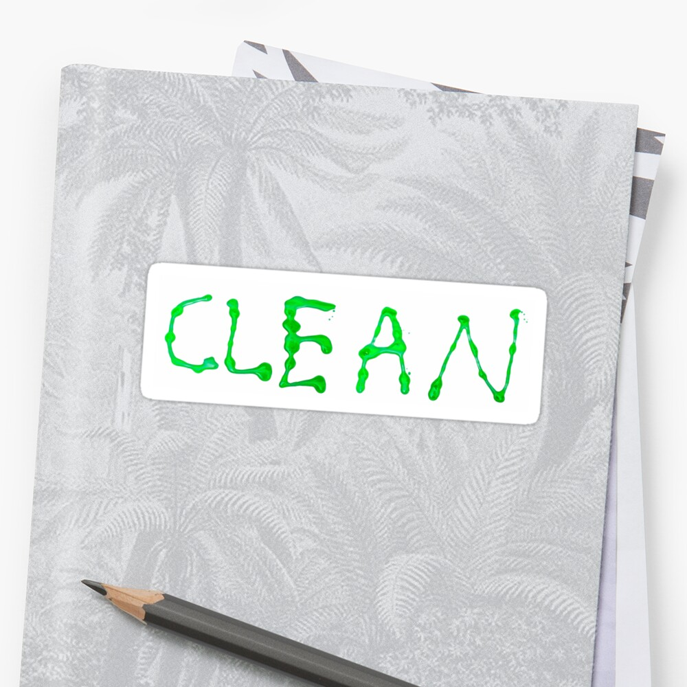 Clean written with green paint on white background by PhotoStock-Isra