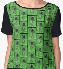 Robotic Bowler Hat - stained glass villains Chiffon Top