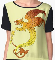 Griffin griffon gryphon in flaming colours Women's Chiffon Top