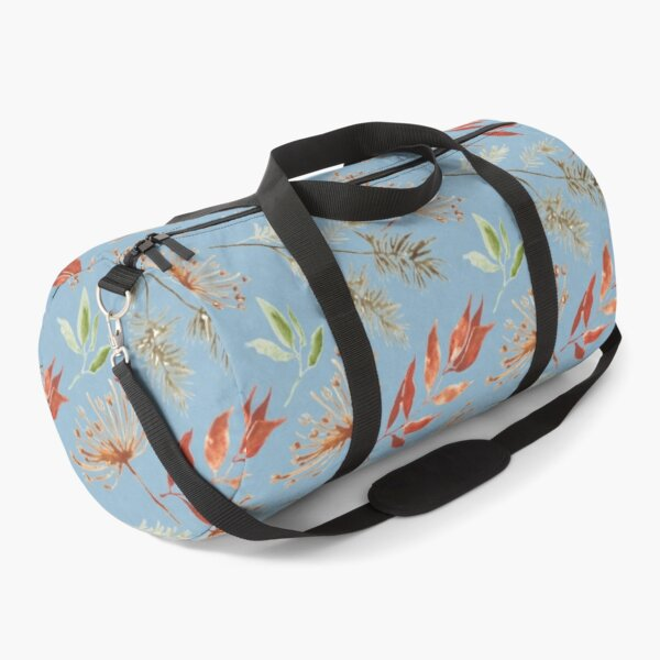 Watercolor plants rusty - pattern Duffle Bag