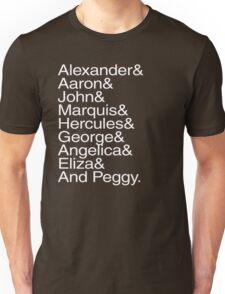 Hamilton Characters  Unisex T-Shirt