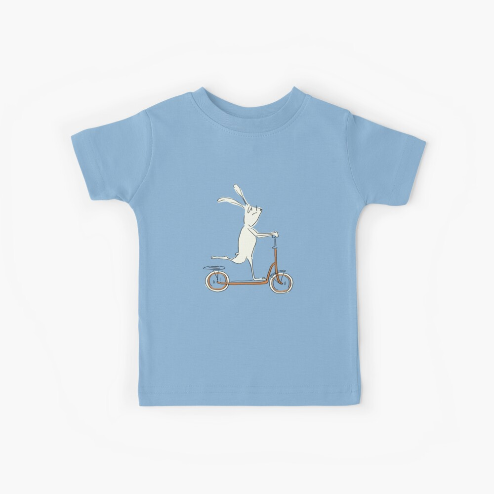 scooter - blue Kids T-Shirt