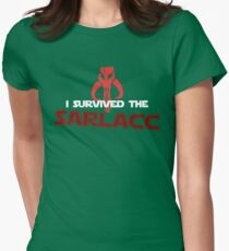 I Survived the Sarlacc Womens Fitted T-Shirt