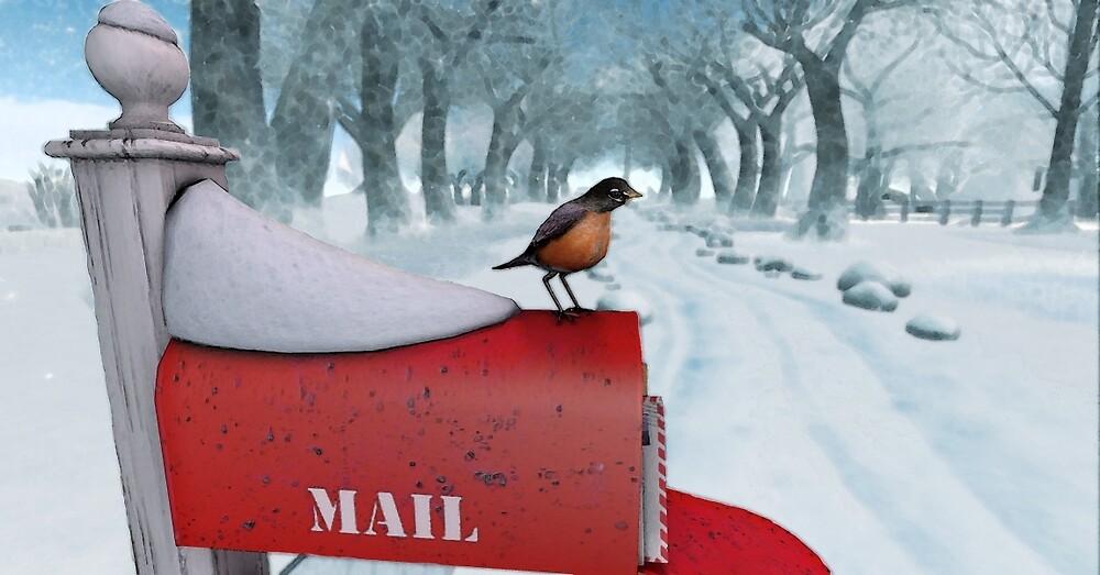 Snow Bird by BrainwaveArt