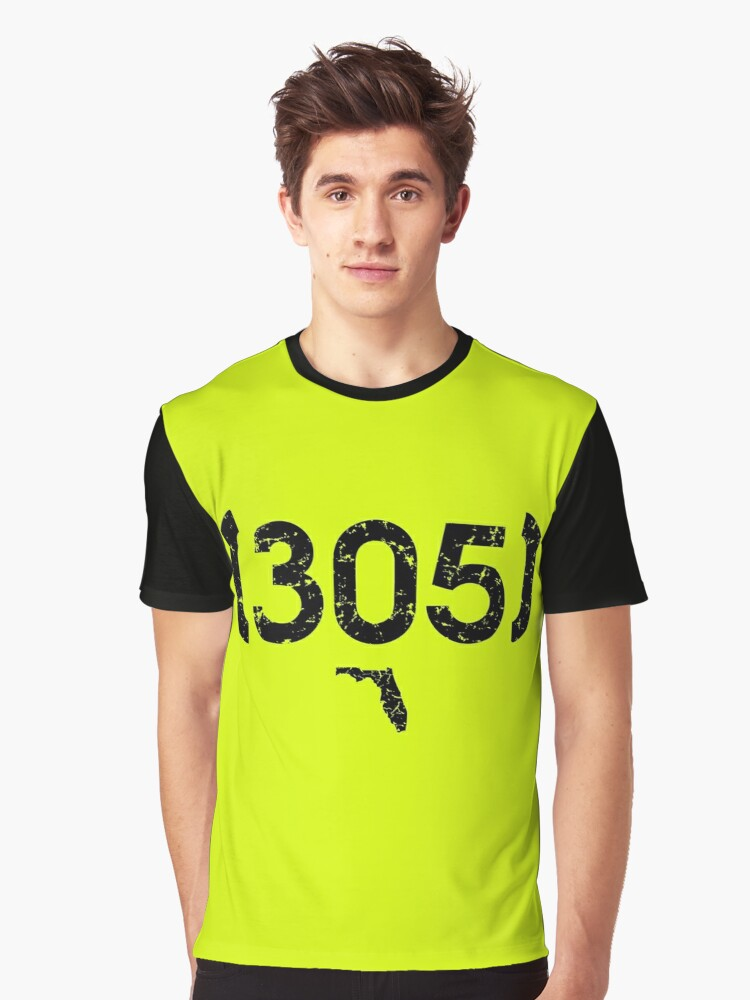 Area Code 305 Florida Graphic T-Shirt Front