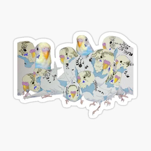 A million versions of my boy, Beattie Sticker