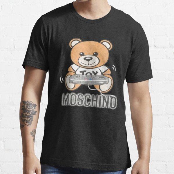 MOSCHINO T-SHIRT Teddy Bear Mens Black T-Shirt Essential T-Shirt