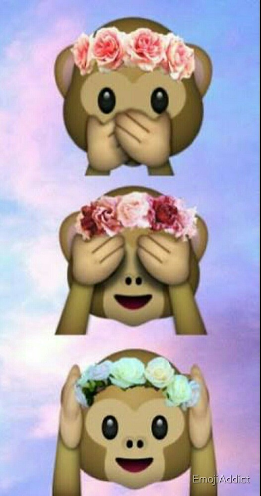 Monkeys With Flower Bands by EmojiAddict
