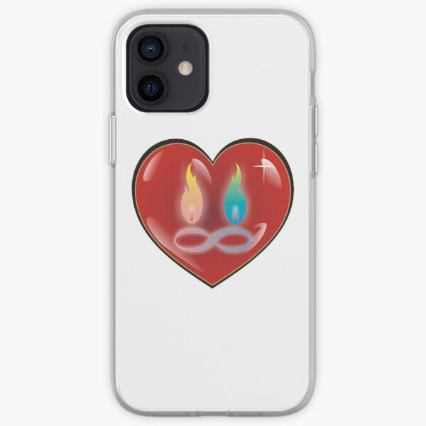 Twin Flame Red Heart 3d Infinity Love pink blue iPhone Soft Case