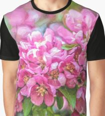 Crabapple blossoms - painted Graphic T-Shirt