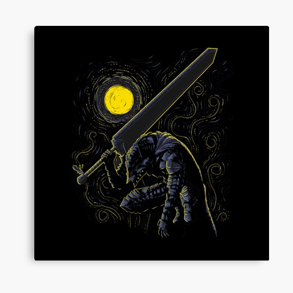 berserk guts armor Canvas Print