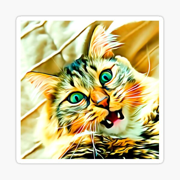 Chat mignon classique Sticker