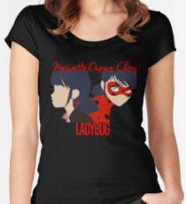 Dual Identities: Marinette and Ladybug Women's Fitted Scoop T-Shirt