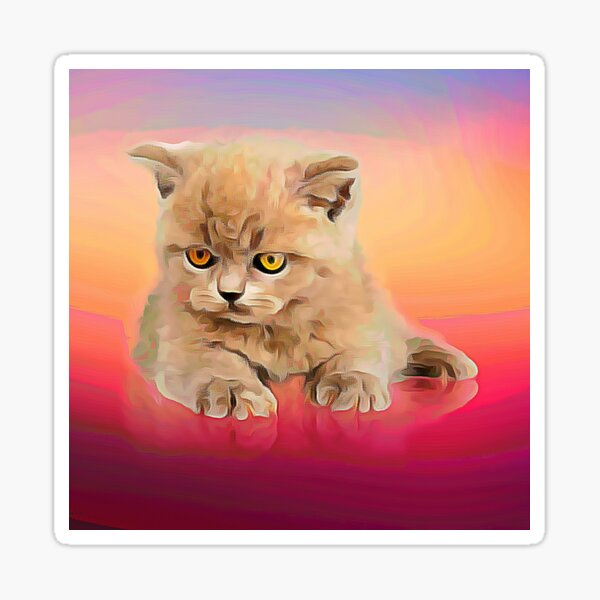 Classiques de chat mignon Sticker