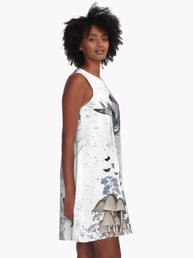 Alternate view of astrological garden party A-Line Dress
