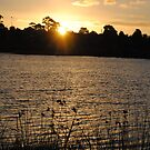 Beautiful Sunset On A Lake by Russell Voigt