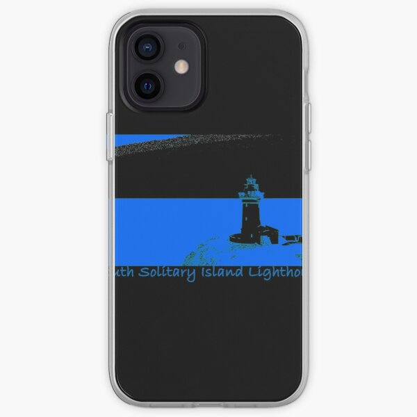 Lighthouse - South Solitary Island Fitted T-Shirt iPhone Soft Case