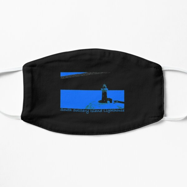 Lighthouse - South Solitary Island Fitted T-Shirt Flat Mask