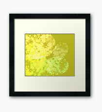 yellow and green abstract Framed Print