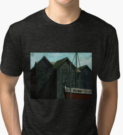 Net Huts and Boat Tri-blend T-Shirt