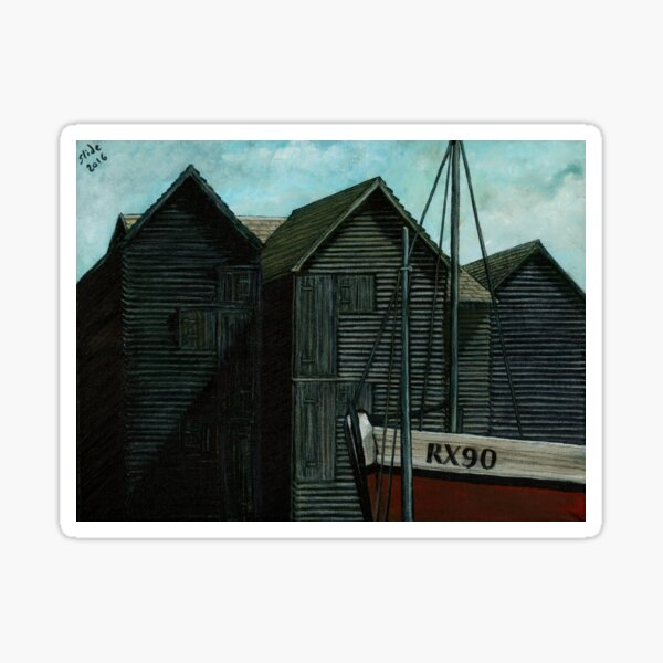 Net Huts and Boat Sticker