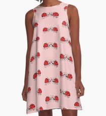 Ladybugs tenderly falling in love A-Line Dress